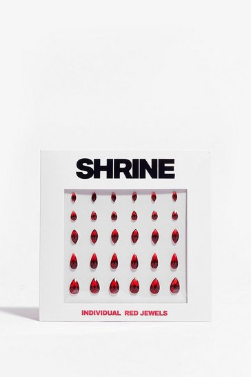 Red SHRINE Individual Face Jewels Set