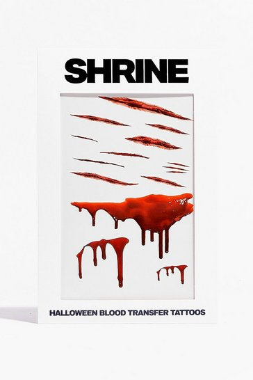 Red SRINE Your My Type Blood Temporary Tattoos Set