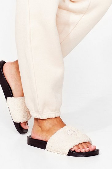 Cream NASTY GAL MOUTH SLIDER