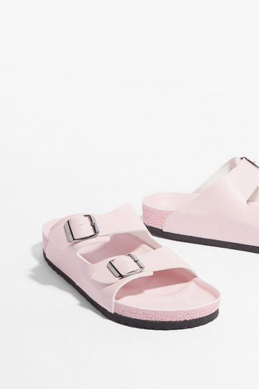 Light pink DOUBLE BUCKLE SANDAL