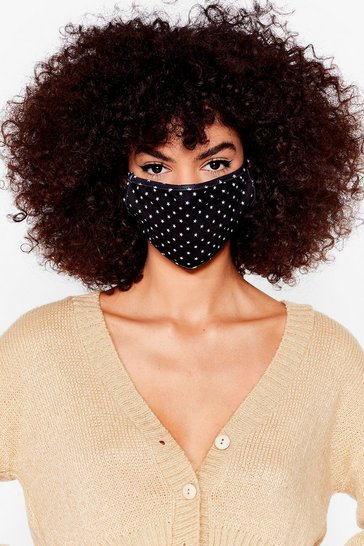 Black Star Print Fashion Face Mask