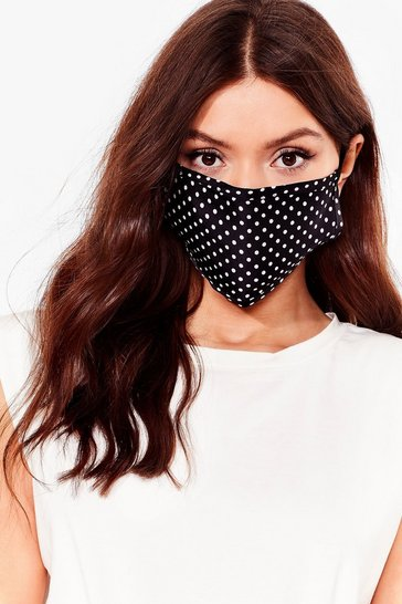 Black Game Face Spotty 3-Pc Fashion Face Mask