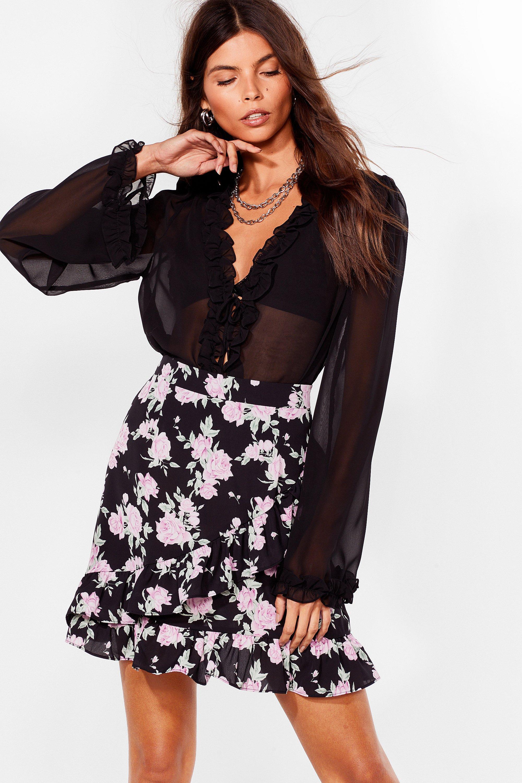 Grow Our Worth Floral Mini Skirt