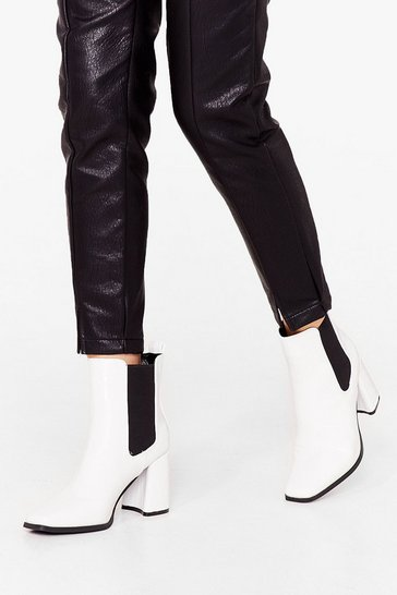 White Heel-ed and Moved On Chelsea Boots