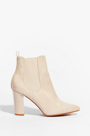 Beige Live By the Chelsea Heeled Boots