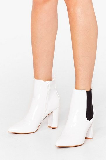 White Live By the Chelsea Heeled Boots