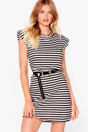 Stone Stripe the Floor With 'Em Tee Dress