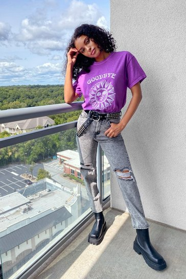 Lilac Never Can Say Goodbye Graphic Tee