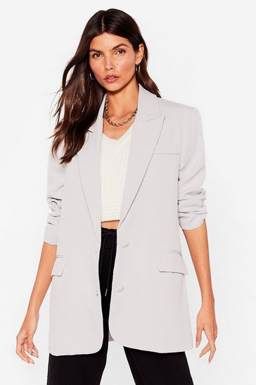 Charcoal It's Just Business Longline Blazer