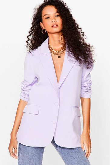 Lilac It's Just Business Longline Blazer