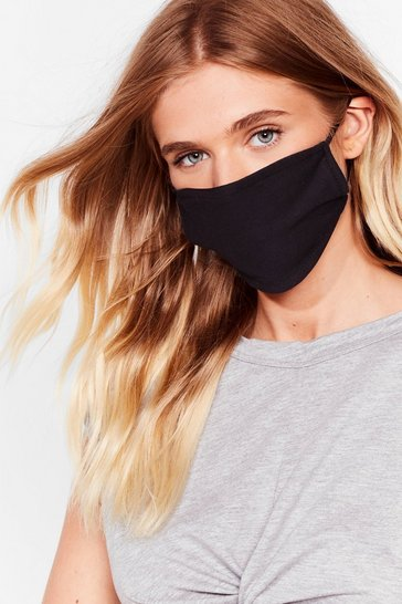 Black All Mouth 5-Pc Fashion Face Mask Set