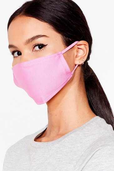 Pink All Mouth Fashion Face Mask