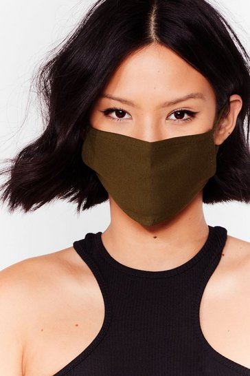 Khaki All Mouth Fashion Face Mask