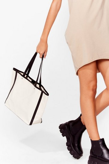 Natural WANT Blank Canvas Tote Bag