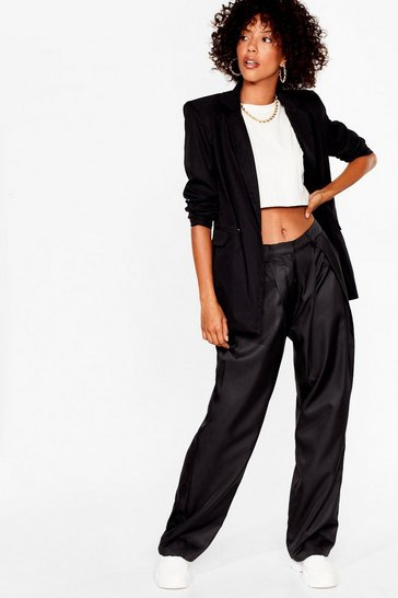 Black Big Shoulders Big Dreams Relaxed Blazer