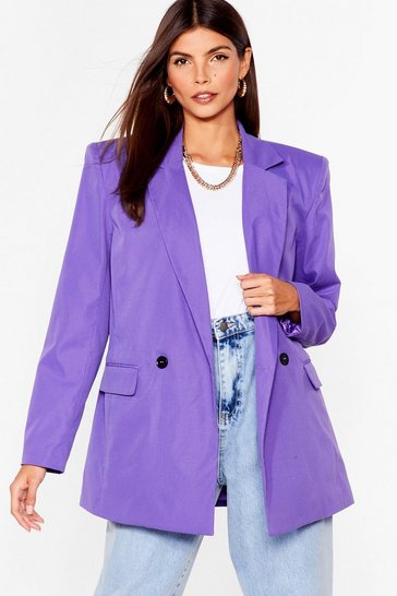 Purple Big Shoulders Big Dreams Relaxed Blazer