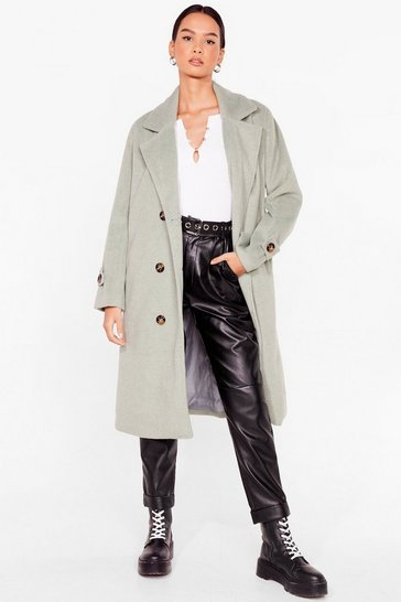 Sage Got It Covered Faux Wool Longline Coat