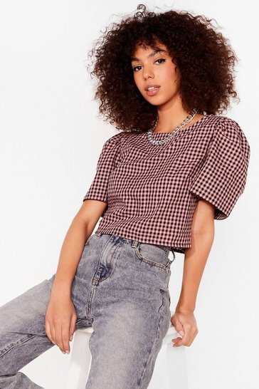 PINK PUNK GINGHAM TOP