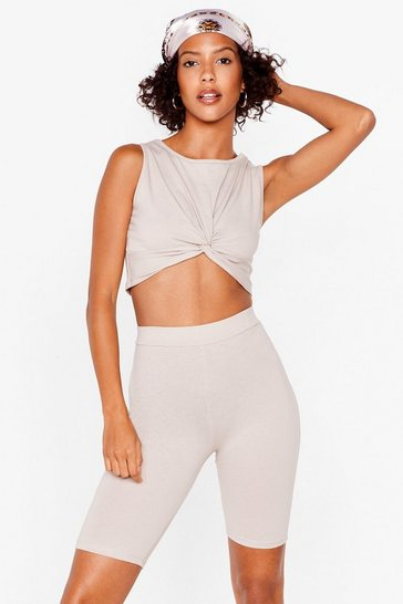 Stone You've Knot a Nerve Top and Biker Shorts Set
