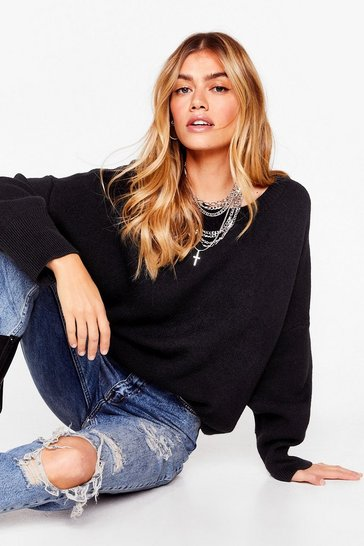 Black Summer's Oversized Knit Sweater