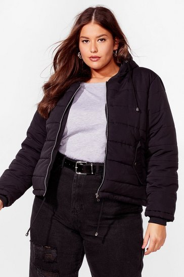 Nude Plus Size Cropped Puffer Jacket