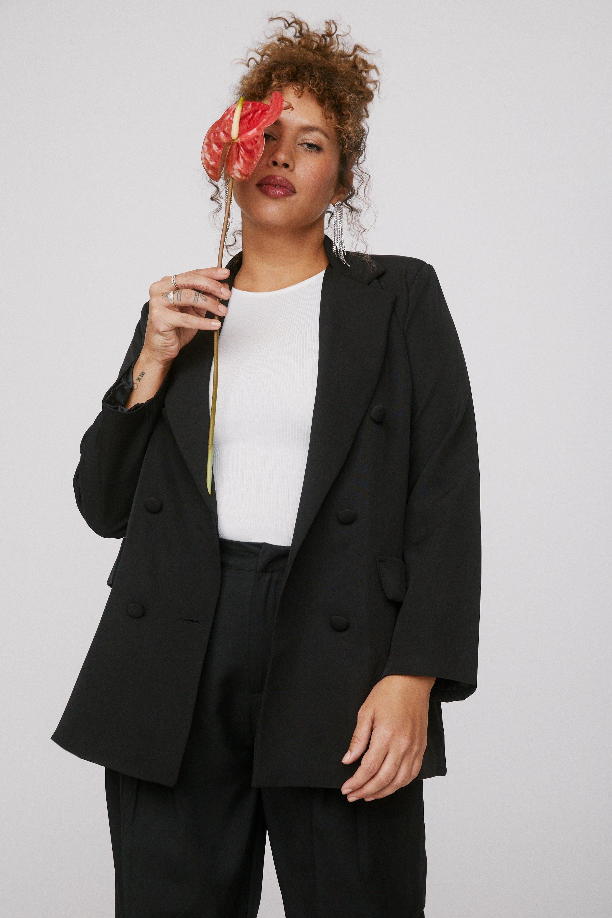 Mind Your Business Plus Oversized Blazer 12