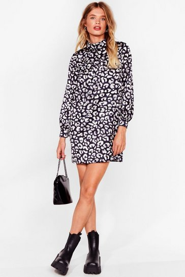 Grey Smock It Outta the Park Animal Mini Dress