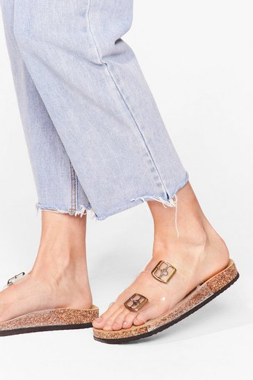 Made Things Clear Buckle Sandals