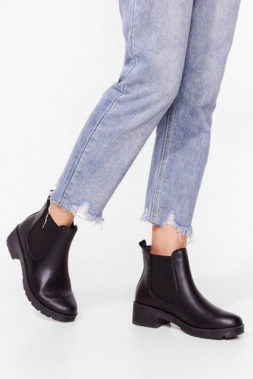 Black Keepin' It Low-Key Wide Fit Cleated Boots