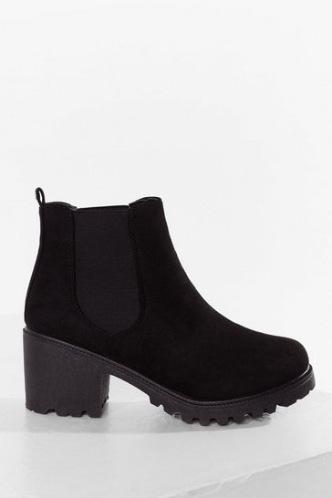 Black Chelsea It From Our Perspective Faux Suede Boots