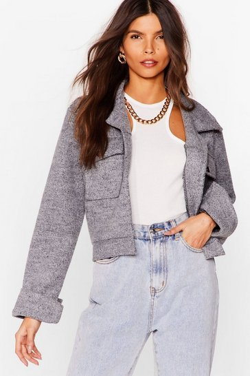 Silver Go Undercover Cropped Jacket