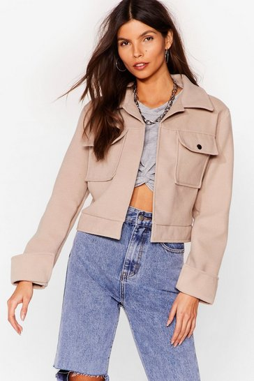 Stone Go Undercover Cropped Jacket