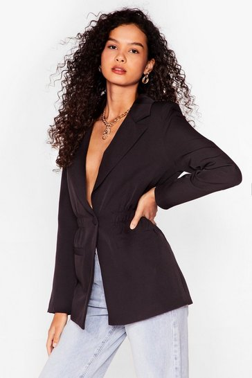 Black Give a Cinch Relaxed Blazer