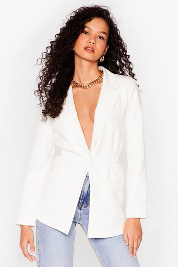 Ivory Give a Cinch Relaxed Blazer