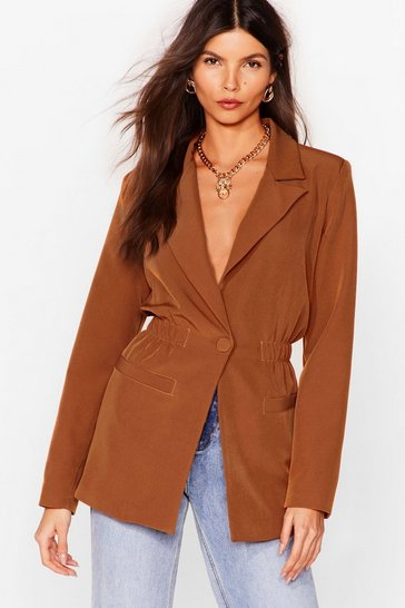 Tobacco Give an Cinch Oversized Blazer