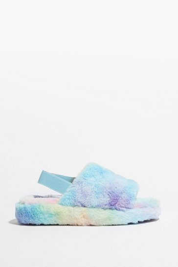 Multi Go Faux Fur It Slingback Platform Slippers