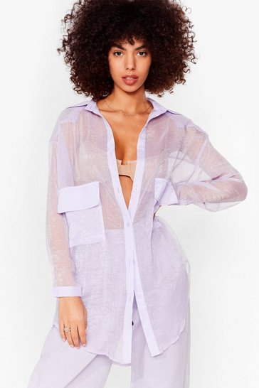 Lilac Sheer and Far Oversized Shirt