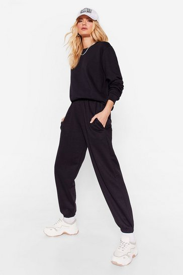 Black Set for Life Sweatshirt and Joggers Set