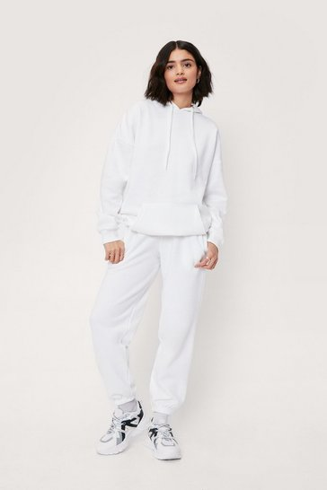 White We're On a Break Hoodie and Jogger Set