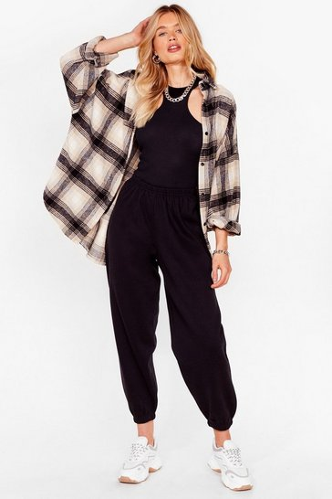 Black Oversized High Waisted Joggers