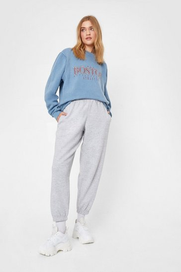 Grey marl Comfort is Queen Oversized Joggers