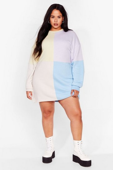 Lilac Be Bright There Plus Colorblock Dress