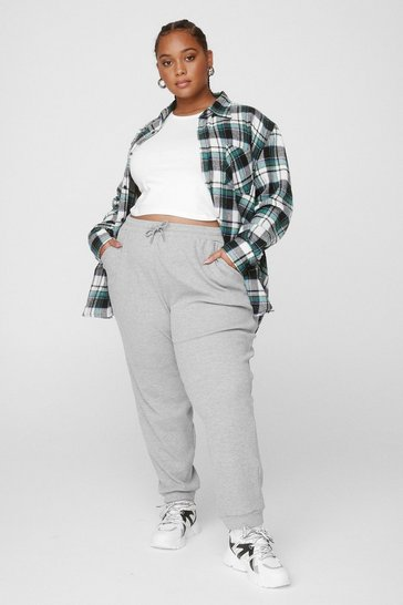 Grey Run It By Us Plus High-Waisted Joggers