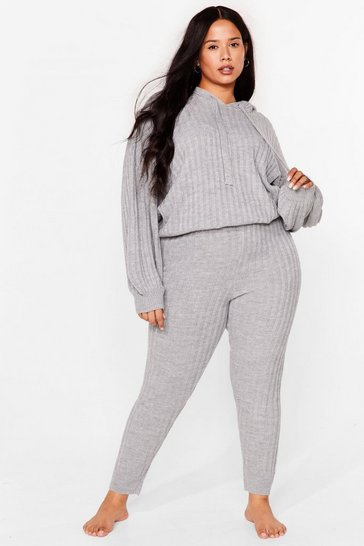 Grey Rise Above Knit Plus Joggers