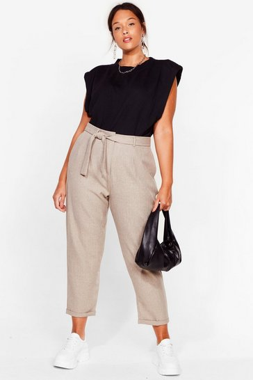 Stone Tie Our Love Plus Belted Pants