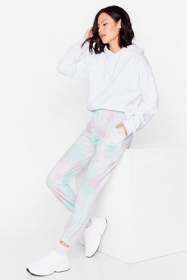 Lilac Run With It High-Waisted Tie Dye Joggers