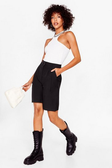 Black Man Oh Man Tailored Longline Shorts