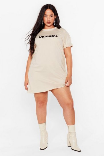Sand How Original Plus Graphic Tee Dress