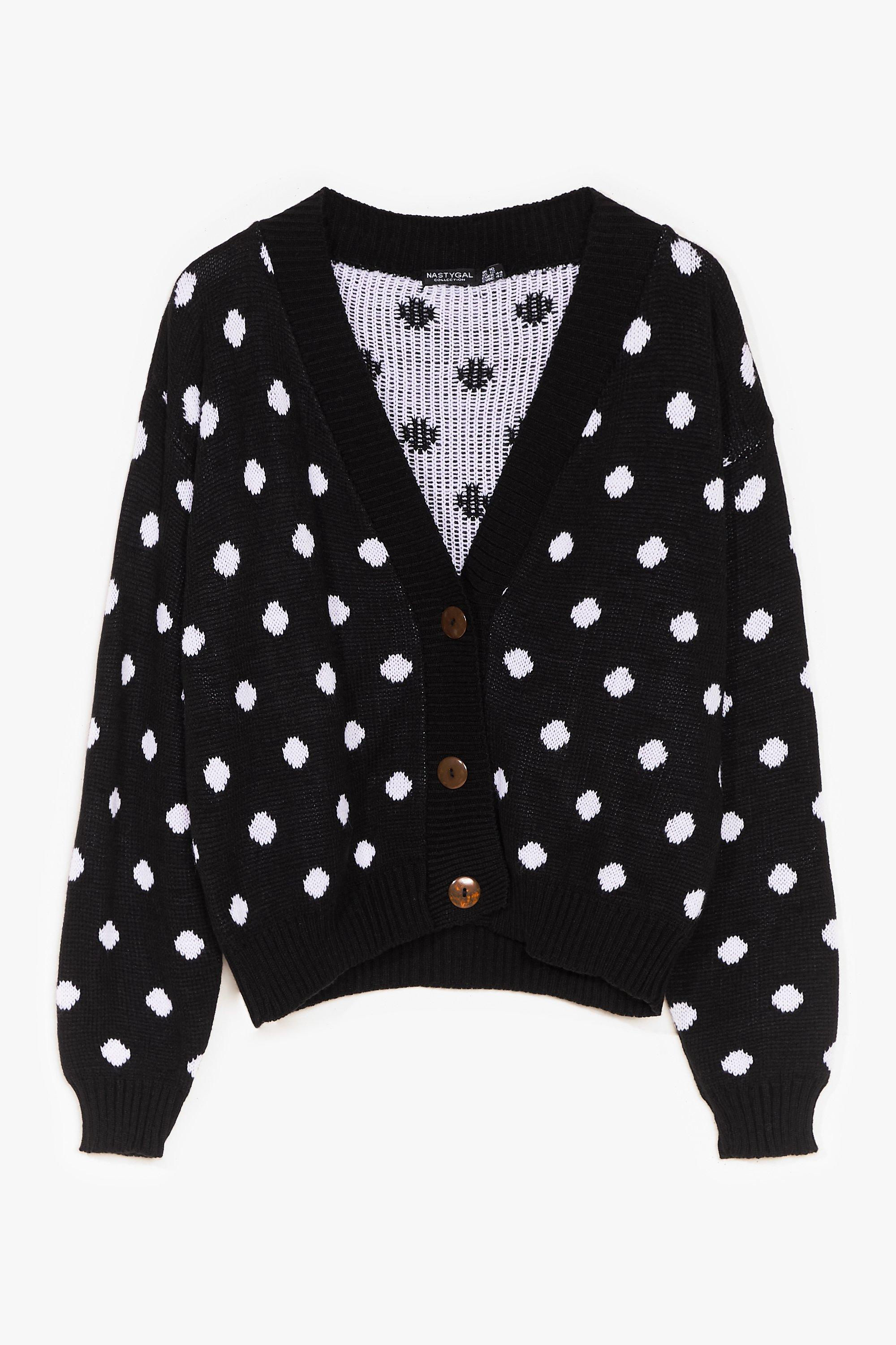 Some Like It Spot Knit Cardigan 6