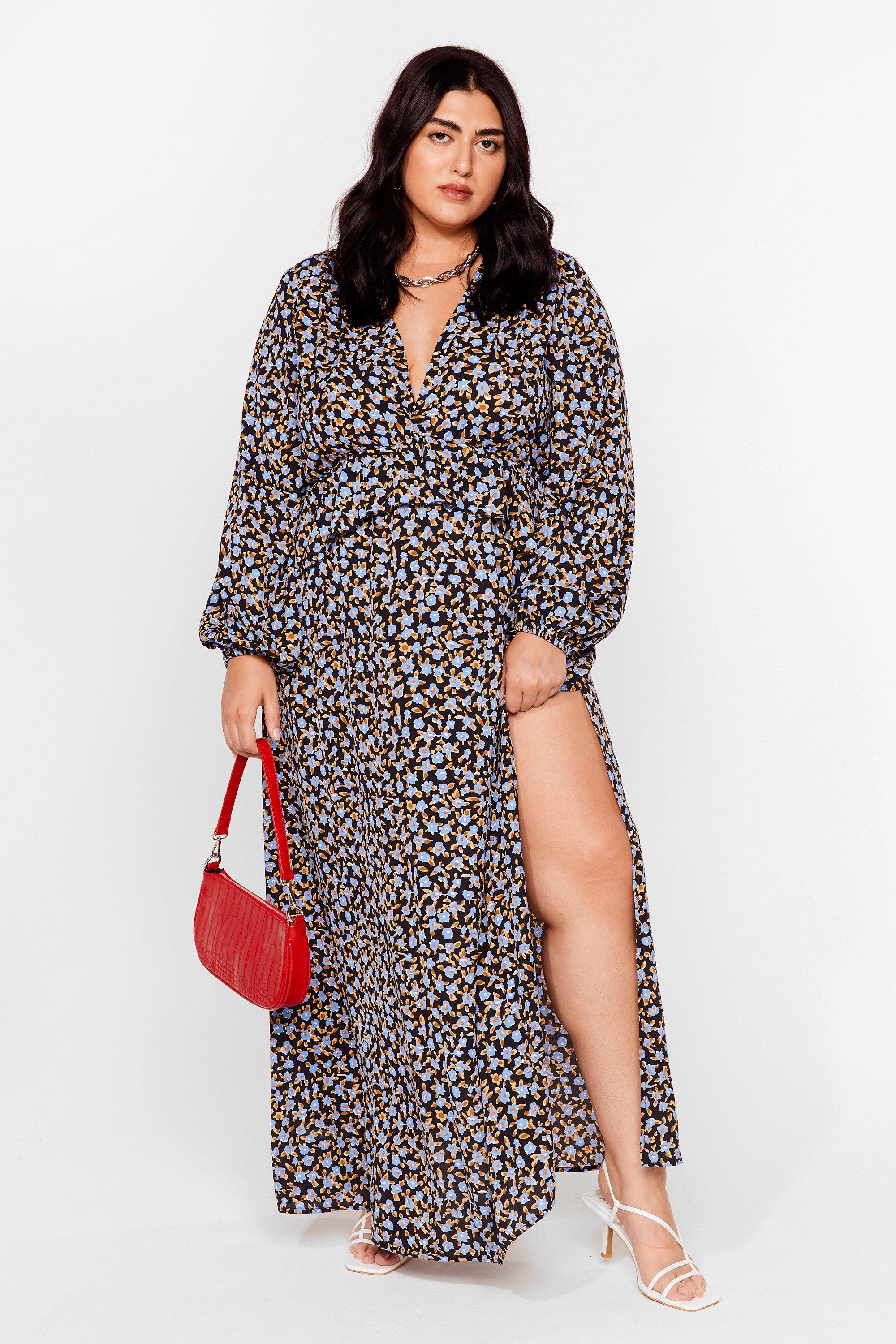 Airs and Graces Plus Floral Maxi Dress 7